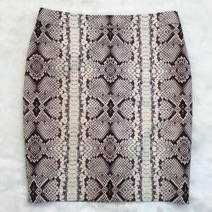J. Crew Petite No. 2 Pencil Skirt in Snake Print